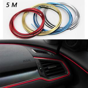 5M New Chrome Car Strip DIY Door Strip Trim Interior Moulding Trim Strip Line