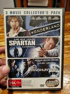 Wonderland / Spartan / Mindhunters  (3 disc DVD) Val Kilmer