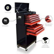 371 US PRO TOOLS BLACK RED TOOL CHEST BOX ROLLER CABINET DRAWER DIVIDERS COVER