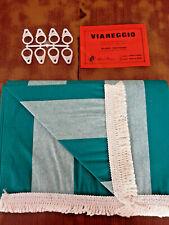 Tende da sole con Anelli per balconi Tenda Resistente pioggia Balcone Veranda Nylon/bianco-blu 290x290