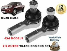 FOR ISUZU D MAX DMAX 2.5TD 2012-> 2x OUTER LEFT + RIGHT TRACK RACK TIE ROD END