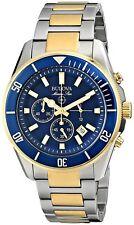 Bulova Men's 98B230 Marine Star Chronograph Quartz Blue Dial Two Tone Dive Watch