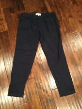 Joie Navy Blue & Black Houndstooth Ankle Crop Pants, Size 4