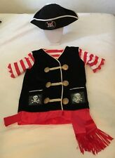 Melissa and Doug size 3-6yrs Pirate Costume With Free Hat EUC