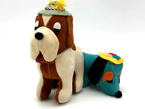 Vtg Dream Pet St. Bernard & Vtg Cedar Point Weener Dog