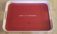 """The Cellar Sentiments Tv Tray Serving Keep It Together Red White 13"""" x 18"""" New"""