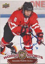 Cassandra Poudrier Signed 2010 Upper Deck World Of Sports Card