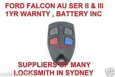 Ford AU Falcon/FPV/XR6/XR8 Car Remote Series 2 & 3 99'-02' AU2/AU3 HIGH QUALITY