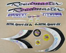 """LOT OF 10 ROADMASTER /""""ALL STAR/"""" BOY/'S BICYCLE DECALS BIKE PARTS 257"""