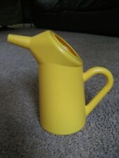 YELLOW PLASTIC FUNNEL CAKE PITCHER, NEW - NEVER USED