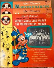 3 Mickey Mouse Club 78'S, Mouseketunes, Club Song & More