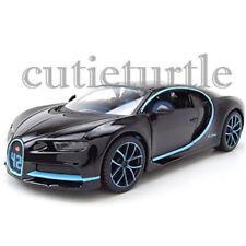Maisto Bugatti Chiron 42 Edition 1:24 Diecast 34514-BK42 Black with Blue Accents