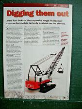 CCM Models 190D Dragline Heavy Plant Conrad Classic NZG Ros Ertle Toy article