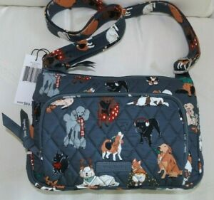 VERA BRADLEY Little Hipster Holiday Dogs Best of Show Beagle Standard Poodle NWT