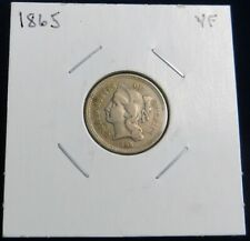 1865 3 Cent Nickel USA, First Year of Issue