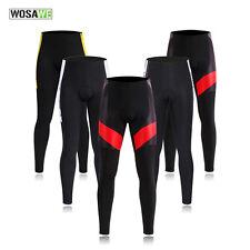 WOSAWE Men Cycling Long Pants 4D Padded Bike Pants Trousers Cycling Tights S-2XL