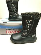 See Kai Run Hallie Waterproof Boot Size 7 Winter Girls Snow New in Box Floral