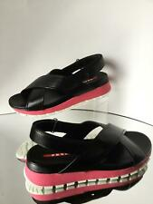 NEW PRADA Crisscross Leather Sandals (Size 36) - MSRP $595.00!