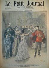 RUSSIE TSAR AMBASSADE DE FRANCE DANSE QUADRILLE LE PETIT JOURNAL 1893