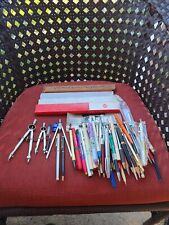 Vintage Pens,Pencils,Rulers,And Other Writing Instruments 4 Parts Or Repairs H2