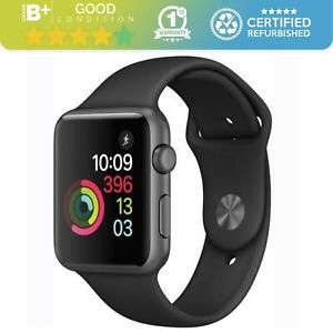 Apple Watch Series 1 42mm - Space Grey & Black Band - WiFi Bluetooth NFC - OLED
