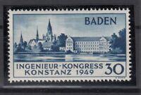 Q4014/ GERMANY FRENCH ZONE – BADEN – MI # 46 II MNH CERTIFICATE – CV 735 $