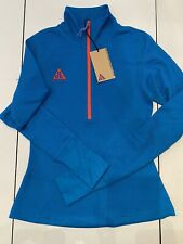 Nike ACG Long Sleeve Thermal Zip Up Top Shirt Womens CD7664 411 Imperial Blue M