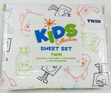 Twin Bed Sheets For Boys Girls Kids Bedding Silly Monsters Sheet Set Fun Decor