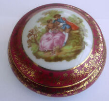Beautiful LIMOGES MEISSNER Trinket Box with Lid, FRAGONARD Image
