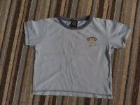 boys boy t-shirt tshirt top age 1.5-2 years 18-24 months blue short sleeved next