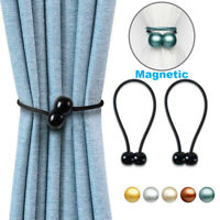 2x Strong Magnetic Ball Curtain Buckle Tiebacks Tie Backs Clips Holdbacks Holder