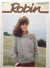 Vintage Robin Tweedsdale ~ DK~PATTERN BOOKLET - Women's Cardi/jumpers/jacket/top