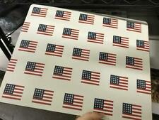 Pottery Barn Set 4 All Over Flag Cork Place Mat Red Mats American Set
