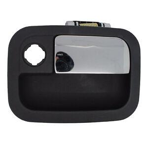 Outside Door Handle - Front Right Passenger Exterior - Black w/ Chrome Lever