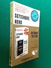 Antonino TRIZZINO - SETTEMBRE NERO , Ed Longanesi Pocket (1969)