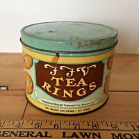 Southern Biscuit Company Richmond Va Tea Rings  - Vintage Lihtograph Tin