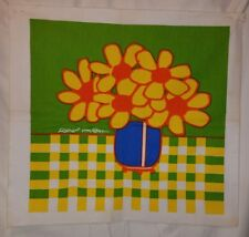 1960's Mid-Century Canvas Art/Silk Screen ROBERT VAN ALLEN YELLOW/ORANGE/GREEN