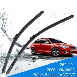 "For Volvo C30 S60 S80 V50 V70 XC60 XC70 FRONT WINDSCREEN WIPER BLADES 26""20"" AU"