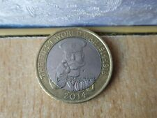 RARE old Vintage 2014 First World War £2 Two Pound