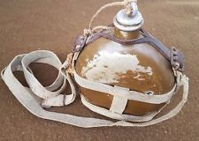 WWII Japanese Army Canteen - Scarce Variant - Great Markings - Shrapnel Damage