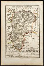 1823 - Carte de l'Aisne / Xavier Girard & Roger / France département