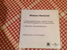 Motown remixed two track promo CD Gladys Night & The Pips,Edwin Starr - War