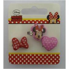 Disney 491493U Set of Three Childrens Costume Jewelry Rings Plastic/Metal - New
