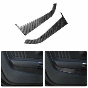 Carbon Fiber Interior Door Panel Trim Decoration Cover For Ford Mustang 2015-19