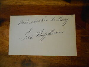 Boston Red Sox TEX HUGHSON autographed signed 3x5 Index Card