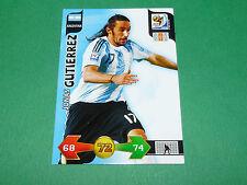 JONAS GUTIERREZ ARGENTINA PANINI FOOTBALL FIFA WORLD CUP 2010 CARD ADRENALYN XL