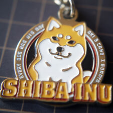 Shiba Inu Doge Peripheral Products Cartoon Metal Pendant Key Ring Cut Dog Shiba