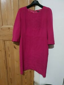 Jaeger Dark Pink Shift Dress Size 16