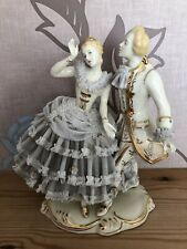 Dresden Lace .Figurine. Dancing Couple