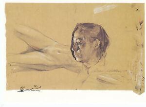 Postkarte: Käthe Kollwitz - Selbstbildnis u. Aktstudien / 1900